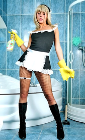 bathroom sexy maid