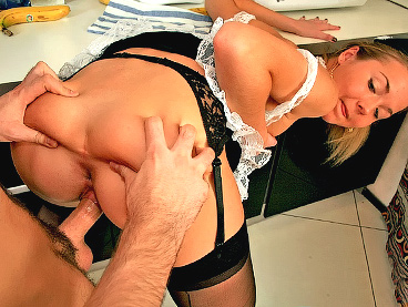 With you Maid having sex in kitchen
